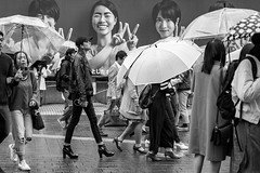 """Tired Of Hearing """"How's The Weather Up There"""" (burnt dirt) Tags: asian japan tokyo shibuya station streetphotography documentary candid portrait fujifilm xt1 bw blackandwhite laugh smile cute sexy latina young girl woman japanese korean thai dress skirt shorts jeans jacket leather pants boots heels stilettos bra stockings tights yogapants leggings couple lovers friends longhair shorthair ponytail cellphone glasses sunglasses blonde brunette redhead tattoo model train bus busstation metro city town downtown sidewalk pretty beautiful selfie fashion pregnant sweater people person costume cosplay boobs"""
