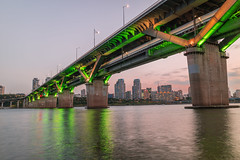 Cheongdam Bridge. (Kim Jin Ho) Tags: gangnam han river sunset seoul korea famous place travel destination urban scene park riverside tourist