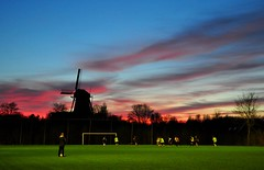 World Cup winners start local.... (powerfocusfotografie) Tags: windmill football soccer wk wk2018 2018fifaworldcup russia 2018 worldcupsoccer worldcupfootball worldcup sport international man men field silhouettes henk nikond90 powerfocusfotografie