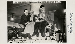 M Bernard Ravca & His Real People Dolls (SwellMap) Tags: postcard post card vintage old antique rppc real photo photograph
