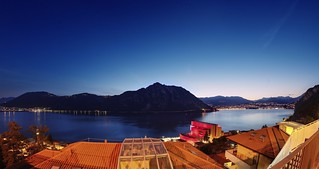 Blue hour over Lago di Lugano