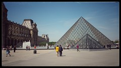 Louvre pyramid... (zapperthesnapper) Tags: louvre artgallery paris france samsunggalaxys4 mobilephotography