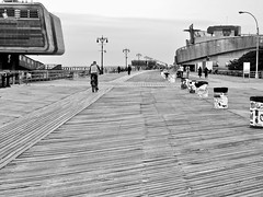 Coney Island Boardwalk aka .. (View 'L') (Shein Die) Tags: coneyisland boardwalk brooklyn newyork coneyislandboardwalk beach bw blackwhite monochrome nyc newyorkcity