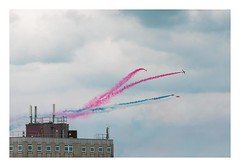 Red Arrows (Number Johnny 5) Tags: lines tamron d750 2470mm smoke minimal aerobatics red aeroplanes imanoot angles space nikon arrows jets airshow colours building planes documenting johnpettigrew