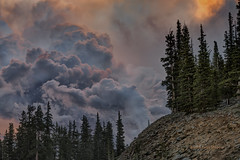 Storm Below (foto guy Terry) Tags: storm clouds mountain trees landscape sunset colorado nikon nature sky landscapes