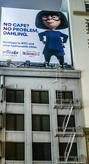 no problem dahling (pbo31) Tags: bayarea california nikon d810 color june 2018 boury pbo31 evening sanfrancisco city urban unionsquare alaskaairlines billboard incrediables pixar film edna disney sign