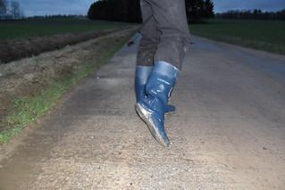 194 -- Stincky and wornout Dunlop Wellies -- Bottes Dunlop puantes et usées --  Gummistiefel  -- Dunlop - Hevea laarzen