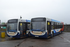 Stagecoach Western 22530 SF57LUW & 22526 SF57LUL (Will Swain) Tags: ardrossan depot 10th march 2018 scotland scottish north bus buses transport travel uk britain vehicle vehicles county country stagecoach western 22530 sf57luw 22526 sf57lul
