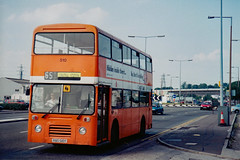 Flashbacks to 1997: Cardiff Bus on route 65 fleet no. 510 (RBO 510Y) (Can Pac Swire (away for a bit)) Tags: uk great britain british unitedkingdom wales welsh cardiff bus doubledeck doubledecker 1997img0075 leyland olympian east lancs bodywork rbo510y route 65