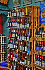 Wine_Rack-sm (Guyser1) Tags: wine winerack winedisplay signs labels liquorstore westyellowstone hdr canoneos7d