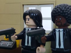 Pulp Fiction (eddiemck123) Tags: lego customminifigure minifigure moc toy pulpfiction quentintarantino juleswinnfield vincentvega samuelljackson johntrovolta