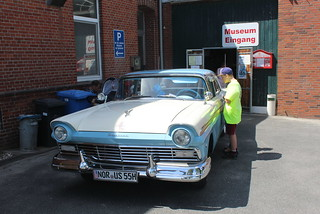 A nice Ford Fairlane 500 at the entrance