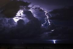 Partial View (lightonthewater) Tags: clouds cloudy thunderstorm storm lightning florida floridathunderstorm panamacitybeach ocean gulfofmexico santarosabeach