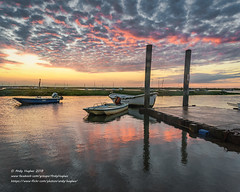 Sunset at the Staithe (viewfinder.general) Tags: fullmoon hightide