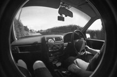 img019 (welshdude1991) Tags: lomography bw cats fisheye ilford 35mmfilm pov pointofview cars
