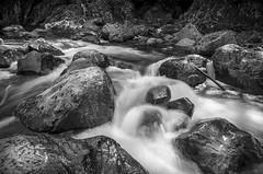 Flow (s.d.sea) Tags: water pentax k5iis summer river flow long exposure rocks blackwhite blackandwhite black white monochrome monochromatic north bend washington washingtonstate cascades mountains twin falls waterfall