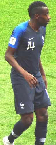 Blaise Matuidi, France left winger, in the 2018 World Cup Final in Moscow