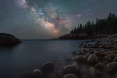 The Cove (Mike Ver Sprill - Milky Way Mike) Tags: boulder beach cove acadia national park maine bar harbor milky way mike galaxy universe stars starry night sky dark skies rocks rocky association travel long exposure air glow astronomy astrophotography ocean coastline east coast salt water bay shore seascape