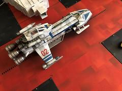 An unexpected visitor... (Eagletransporter) Tags: space1999 gerryanderson starcuiser airfix moonbasealpha eagle eagletransporter
