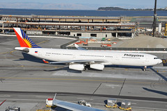 RP-C3441 (Rich Snyder--Jetarazzi Photography) Tags: philippineairlines philippine pal pr airbus a340 a340300 a340313 a343 rpc3441 departure departing sanfranciscointernationalairport sfo ksfo millbrae california ca airplane airliner aircraft jet plane jetliner ramptowera rcta atower