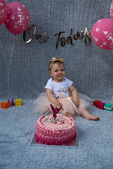 Baby Zayla-7 (Andy barclay) Tags: baby happy birthday 1st toddler girl cake smash one first smile messy portrait young pink