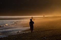 Homer Spit (Mark Polson) Tags: alaska homer sunset beach orange playing spit yellow