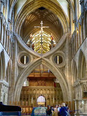 The Scissors Arch, Wells Cathedral (BobbyR666) Tags: wells cathedral scissors arch olympus