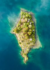 Tiny Island (John Westrock) Tags: nature island snoqualmiepass unitedstates us goldcreekpond trees spring washingtonstate pacificnorthwest djimavicpro dronephotography
