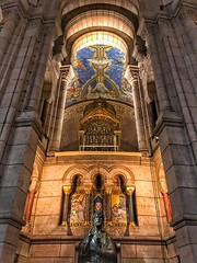Basilique Sacré-Coeur - Paris - France - Interior Altar (Onasill ~ Bill Badzo) Tags: basilique sacrécoeur paris france historic church basilica sacred heart mount martyrs montmartre roman catholic rc religion style architecture byzantino byzantine romanesque landmark tourist travel tours walking statute hill onasill nrhp historical people sky building park interior altar ceiling mural window wall stonework arch