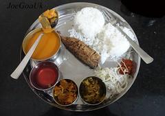 Fish Curry rice thali (Joegoaukfishcurry2) Tags: joegoauk goa fish panaji rice panjim
