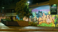 Off street (mekiaus) Tags: newtown sydney nsw australia streetphotography nightstreetphotography sony a6000 outside colour street nighttime minipark