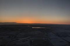 Sunrise Landing in Denver (designsbykari) Tags: denver colorado denverinternationalairport sunrise landing airplane winter snow usa unitedstatesofamerica runway