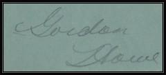 National Hockey League Vintage Autograph - GORDIE HOWE - Detroit Red Wings (1946/47 example) (Treasures from the Past) Tags: gordiehowe gordonhowe mrhockey detroitredwings nhl nationalhockeyleague halloffame hof hockeyhalloffame vintage autograph