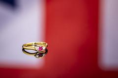 Reflecting Ring 4 of 5 (johnhjic) Tags: johnhjic cw sellor studio flash white red blue whamond hamond nikon d850 150mm reflecting reflection ruby diamond gold
