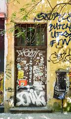 Not Uncared (TablinumCarlson) Tags: sofia bulgaria europa europe bulgarien tür door entry graffiti facade fassade 50mm sumicron leica leicam m240 mural