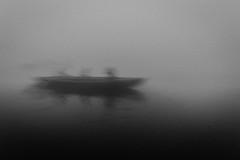 Ganga | Varanasi 2017 (Vijayaraj PS) Tags: nikon varanasi kasi india heritage ganga ganges water river incredibleindia outdoor ghats asia blackandwhite monochrome background grey grains boat sky 2017 fog mist ocean