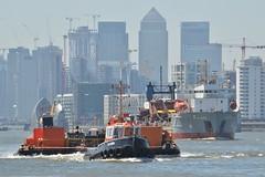 GPS Cambria (1) @ Woolwich Reach 27-06-18 (AJBC_1) Tags: riverthames london tug gpsmarine ©ajc dlrblog england unitedkingdom uk ship boat vessel northwoolwich eastlondon newham londonboroughofnewham ajbc1 gpscambria nikond3200 stantug1606 damen damenshipyardsgroup pontoon devon woolwichreach