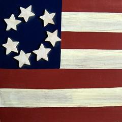 handpainted home (muffett68 ☺ heidi ☺) Tags: flag box redwhiteandblue handpainted hcs fourthofjuly