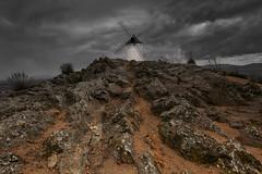 Windmill of Consuegra (Marijke M2011) Tags: windmill la mancha consuegra rock dramatic
