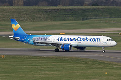 Thomas Cook Airlines Airbus A321-211 G-TCDA (Paul's Aircraft and Transport Images) Tags: bhx birmingham elmdon airbus a321 211 thomas cook airlines
