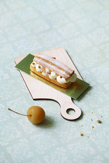 Eclairs with Apple Filling and Whipped White Chocolate Ganache