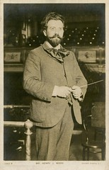Henry Wood: (painting in light) Tags: henrywood henry wood 3rd march 1869 london england died 19th aug 1944 hitchin promenade concerts queens hall 1895 royalalberthall concert knighted 1911 1904 conductor sir postcard