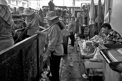 """don't mind us, carry on preparing your food"" ! (FimRay) Tags: blackandwhite bw monotone monochrome street streetphotography traditionalstreet thailand thai people leica m240 35mmfle asph asian asia"