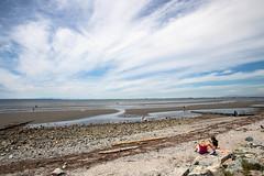 Crescent Beach (Ben-ah) Tags: crescentbeach vancouver canada surrey beach sandy mudflat lowtide cloud sky
