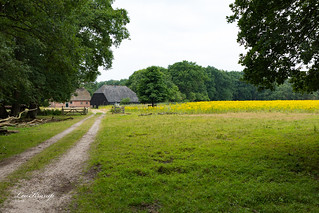 Landscape with old Dutch Farmhouse and barn