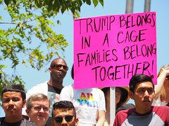 Protesters gathered at Grand Park for L.A.'s Families Belong Together March (lukeharold) Tags: families belong together gavin newsom kamala harris