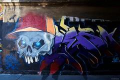 IMGP5417 The Skull (Claudio e Lucia Images around the world) Tags: street art via pontano padova viale monza milano murales graffiti ferrovia milanese pentax pentaxk3ii sigma sigma1020 pittura face faccia murale persone muro ritratto auto the skull