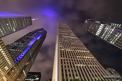 Aon Center (kevin-palmer) Tags: chicago illinois june summer night dark evening city downtown urban nikond750 skyscrapers samyang rokinon14mmf28 purple randolphstreet longexposure clouds glow