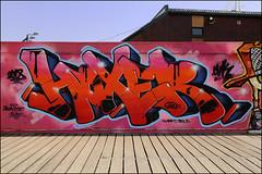 Hoxer (Alex Ellison) Tags: cardiff wales uk urban graffiti graff boobs hoxer millenniumwalk halloffame