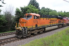 First Train of the Day with a Warbonnet in tow (kschmidt626) Tags: union pacific train illinois rochelle park railroad graffiti bnsf burlington diamond